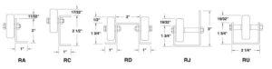 Gravity Rail Wheel Conveyors Diagram | Conveyability